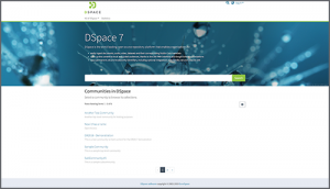 DSpace 7 preview release homepage view